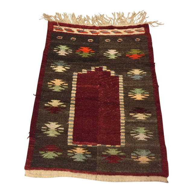 Vintage Turkish Tribal Angora Rug - 3′3″ × 4′5″ - Image 1 of 7