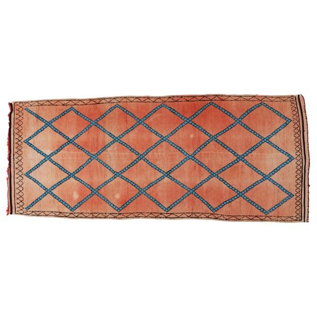Vintage Moroccan Berber Modern Tribal Style Gallery Rug - 5′7″ × 13′3″ - Image 6 of 7