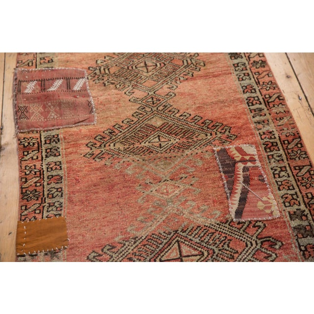 "Vintage Distressed Patchwork Oushak Rug Runner - 2'10"" X 10'7"" For Sale In New York - Image 6 of 12"