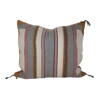 1930s Navajo Indian Saddle Blanket Weaving Pillow For Sale