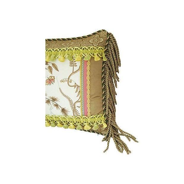 Custom Brunschwig & Fils Bird & Thistle Pillow - Image 2 of 5