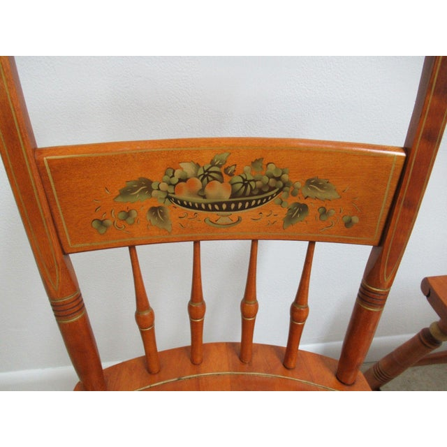 Bent Brothers Plank Bottom Hitchcock Style Dining Chairs - A Pair For Sale In Philadelphia - Image 6 of 11