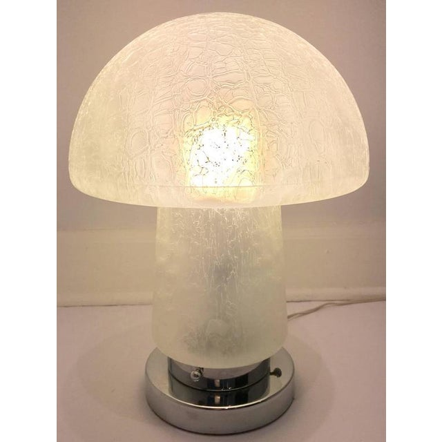 Italian Murano Glass and Chrome Mushroom Lamp - Image 4 of 8