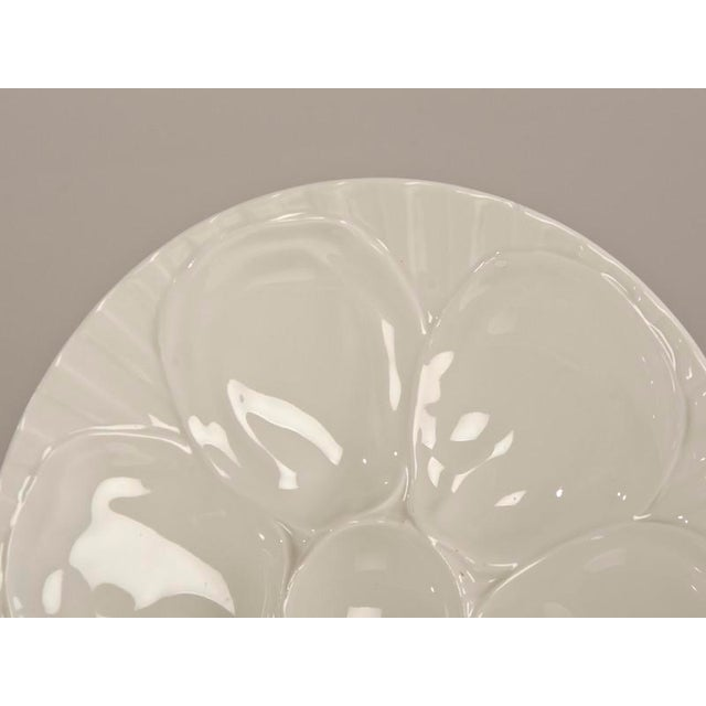 "White 1900s French White Glazed ""Oyster"" Plates - a Pair For Sale - Image 8 of 9"