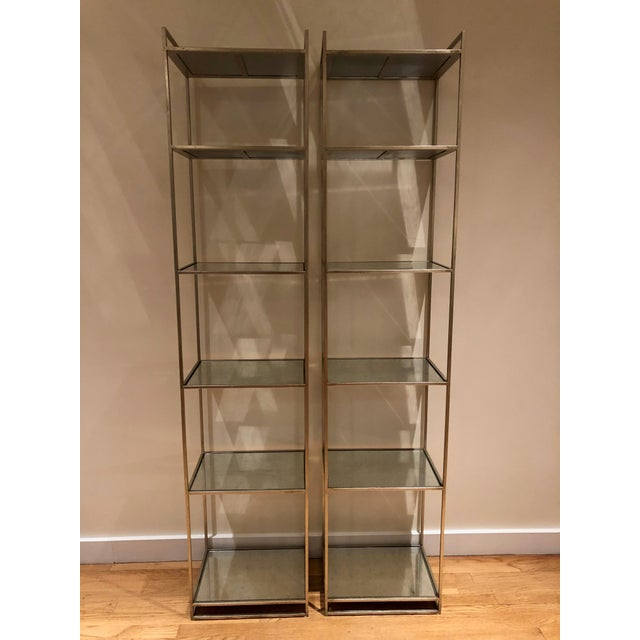 Modern Contemporary Lillian August Bookshelves - a Pair For Sale - Image 3 of 3