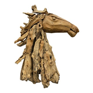Beautiful Driftwood Sculpture of a Horse Torso For Sale