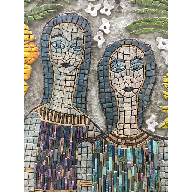 Figurative Mosaic Wall Piece For Sale - Image 4 of 8