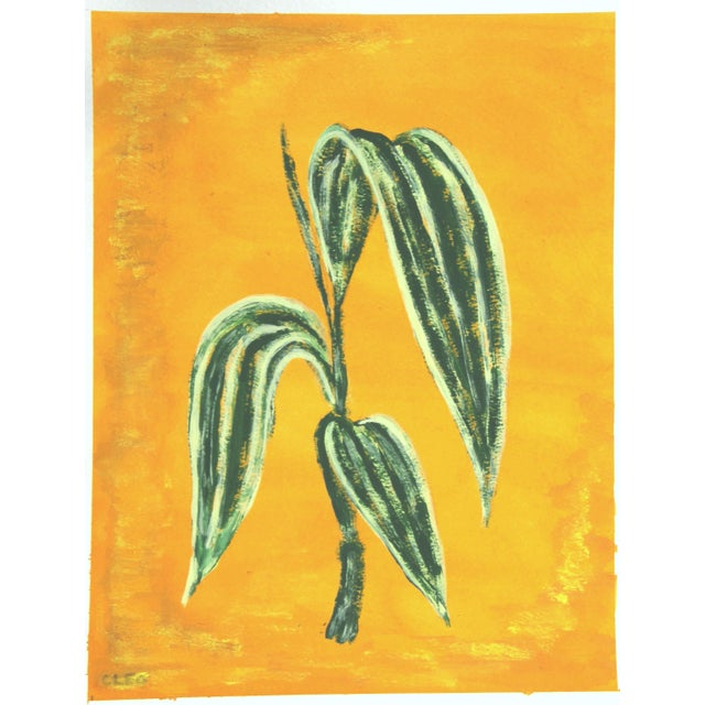 Watercolor Chinoserie Botanic Tropical Leaves Painting by Cleo Plowden For Sale - Image 7 of 11