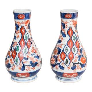 Antique 19th Century Japanese Imari Vases - a Pair For Sale