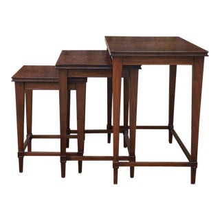 Traditional Mahogany Nesting Tables - Set of 3 For Sale