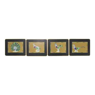 1970s Vintage Boxed English 'Bird' Coasters - Set of 4 For Sale