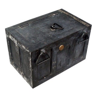 Iron Strong Box Treasure Chest For Sale