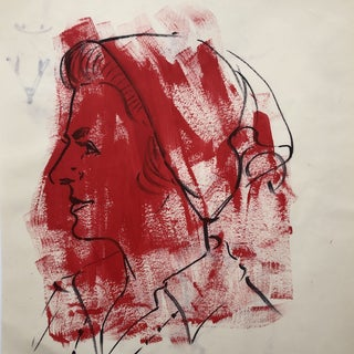 Mid-Century Portrait of a Lady 1960s For Sale