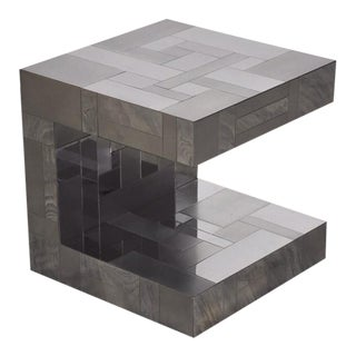 Paul Evans Cityscape Chrome End Table For Sale