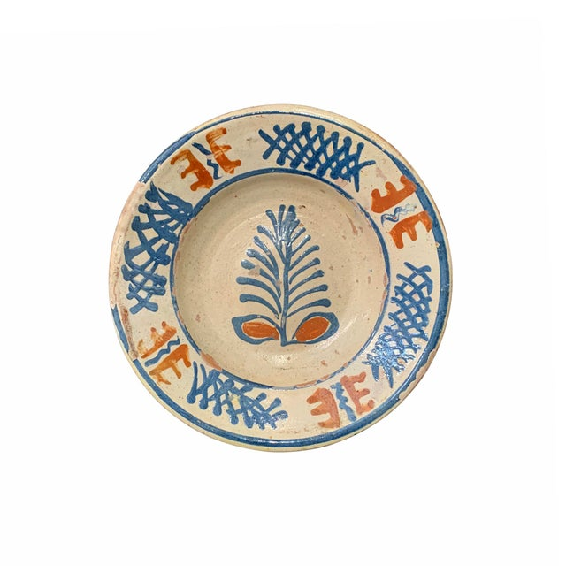 Folk Art 19th Century Hungarian Ceramic Bowls - Set of 12 For Sale - Image 3 of 13
