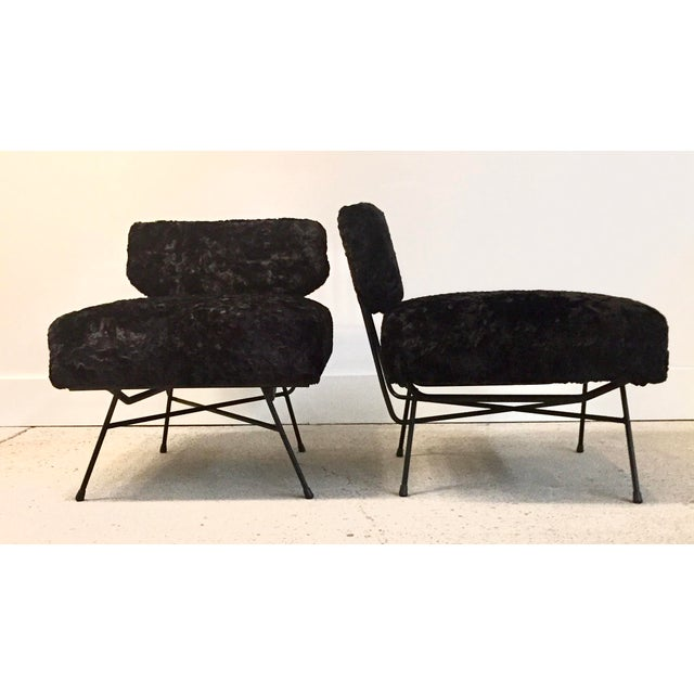 Black Mid-Century Modern Studio Bbpr Arflex Italian Black Chairs- a Pair For Sale - Image 8 of 8
