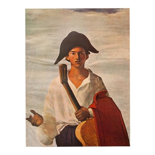 1940s André Derain, Harlequin With a Guitar, Original Period Swiss Lithograph For Sale