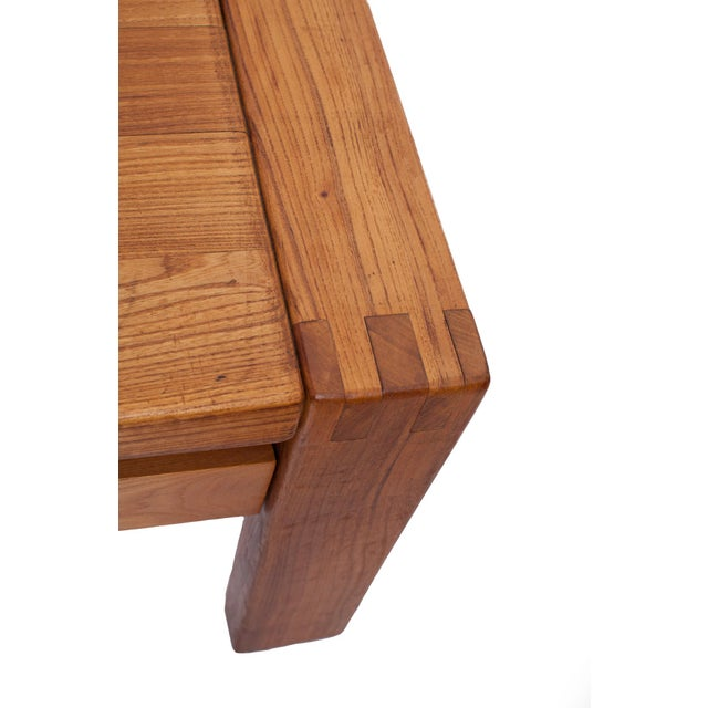 French 1960s Pierre Chapo Crafted Oak Coffee Table For Sale In New York - Image 6 of 7