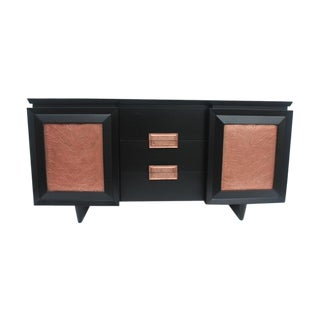 Restored Mid-Century 9-Drawer Credenza For Sale