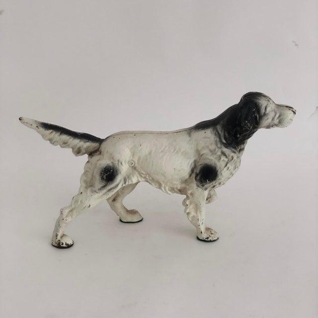Figurative Vintage Cast Iron Retriever Pointer Dog Doorstop For Sale - Image 3 of 6
