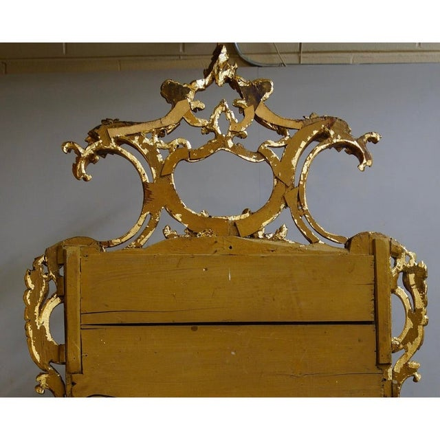 19th Century 19th Century Louis XIV Style Gilt Wood and Gesso Mirror For Sale - Image 5 of 13