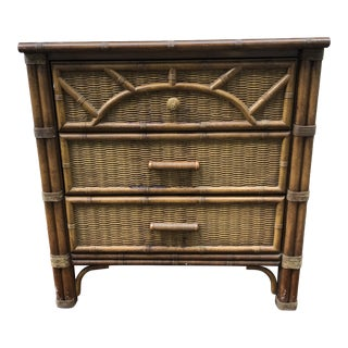 Vintage Henry Link Faux Bamboo Rattan Chest For Sale