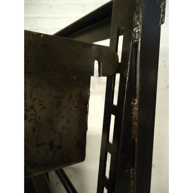 Industrial Five Level Shelving Unit For Sale - Image 4 of 8