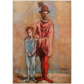 "Mid Century Vintage ""Two Saltimbanques"" Original Period Lithograph by Picasso For Sale"