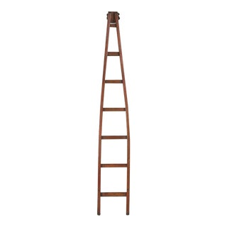 Antique Cherry Orchard French Ladder For Sale
