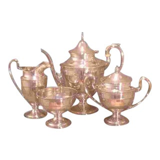 American Sterling Tea Set Made by Gorham in 1929 For Sale