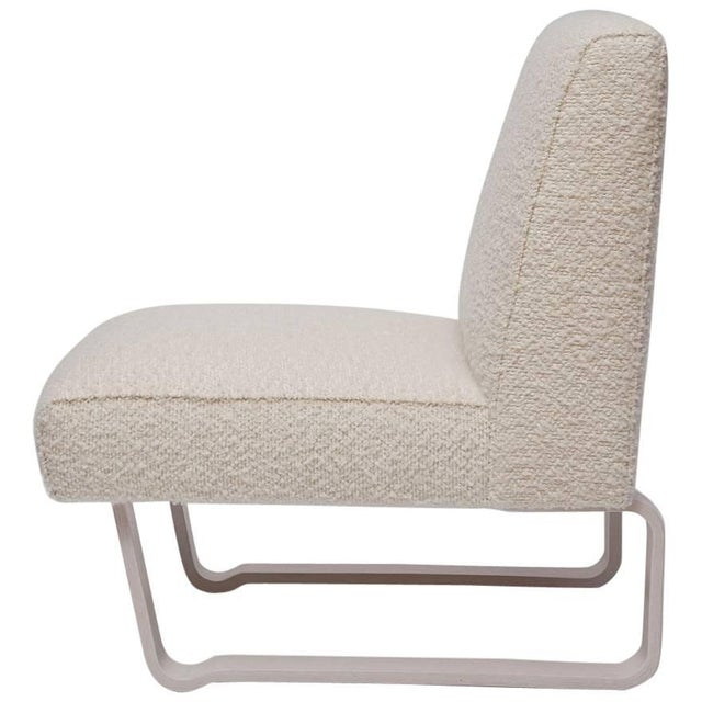 """Edward Wormley """"Modern Morris"""" Bleached Mahogany Slipper Chair For Sale - Image 9 of 9"""