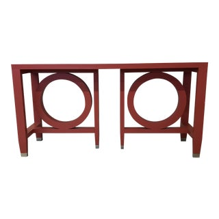 Red Transitions Circle Console Table by Somerset Bay For Sale