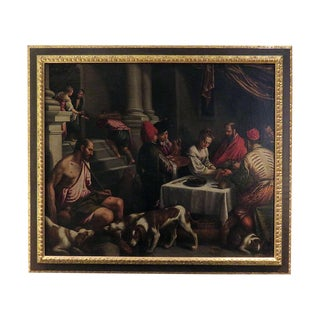"""16th/17th Century Bassano Studio """"Saint Rocco at a Feast"""" Painting For Sale"""