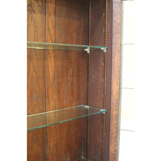 1910s Jacobean Oak Bureau Bookcase For Sale - Image 9 of 13
