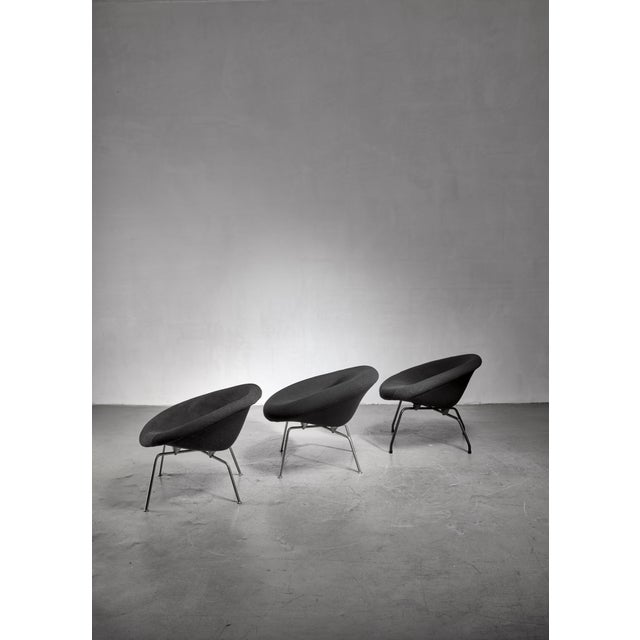 Mid-Century Modern Set of 3 Prototype Chairs by Dutch Architect Ing. j.g. Athmer For Sale - Image 3 of 3