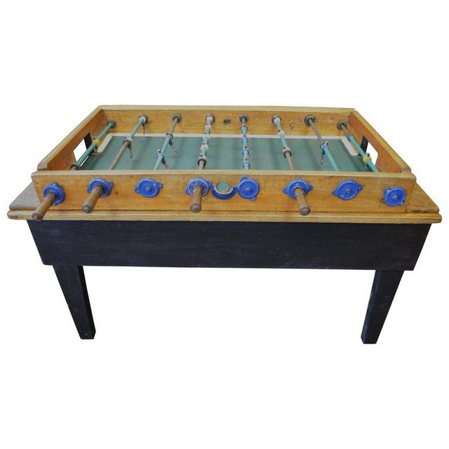 Foosball Game Sports Table From Italy on Handmade Wooden Base; Mid Century For Sale - Image 13 of 13