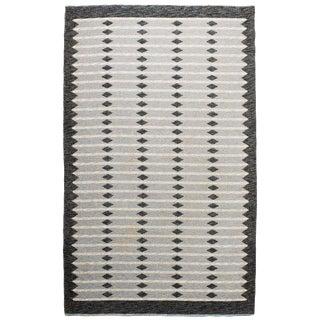 Vintage Swedish Flat-Weave Carpet For Sale