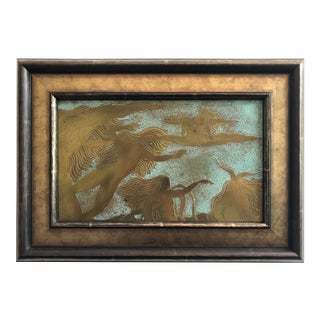 Surrealist Bronze Female Nudes Plaque in Style of Philip and Kelvin LaVerne For Sale