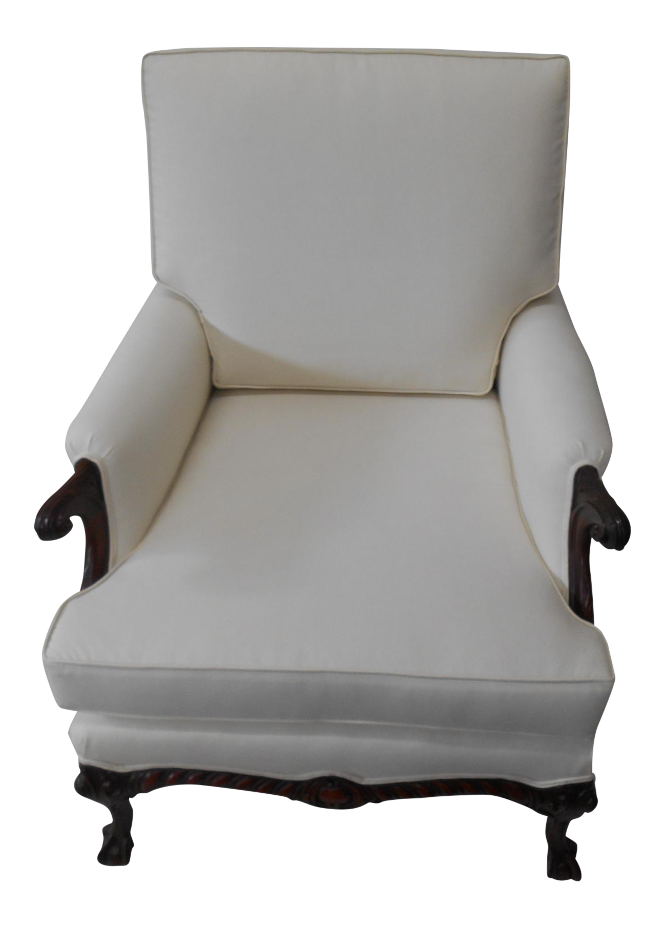 Cream Upholstered Accent Chair