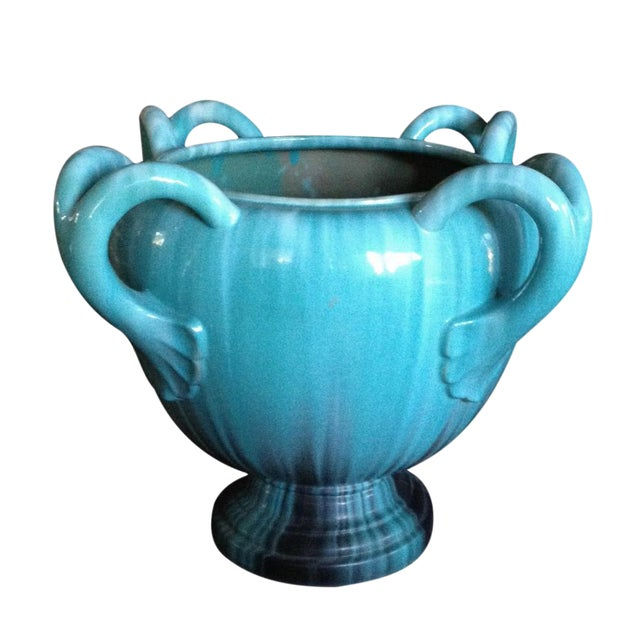 A Massive French TurquoisePottery Jardiniere by Clement Massier Golfe-Juan - Image 1 of 5