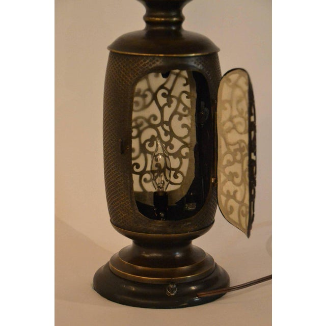 Antique Chinese Bronze Lantern Lamp For Sale In New Orleans - Image 6 of 7