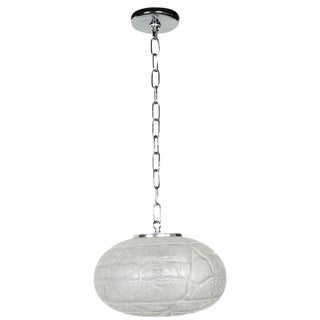 1970s Oval Glass Pendant Light by Doria For Sale