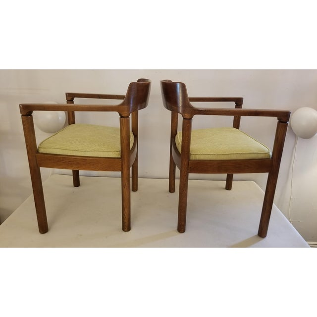 Nicos Zographos 1960s Walnut Zographos Ireland Chairs - a Pair For Sale - Image 4 of 10