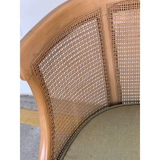 Midcentury Bleached and Caned Barrel Back Chair Preview