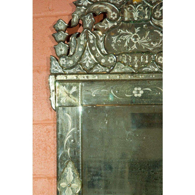 Pair of German Clear Center Venetian Style Mirrors For Sale In New York - Image 6 of 11