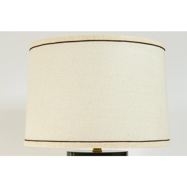 Modern Martin & Brockett Modern Matte Lacquer Lamp For Sale - Image 3 of 5