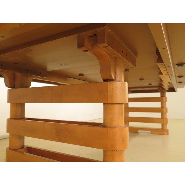 Baker Modern Design Satinwood Mahogany Dining Room Table For Sale - Image 11 of 13