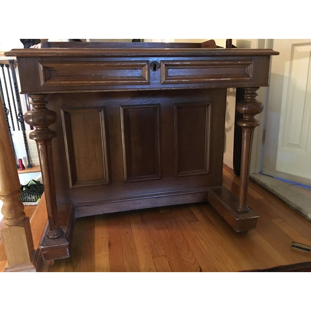 Brown 19th Century Victorian Walnut Davenport Desk For Sale - Image 8 of 8