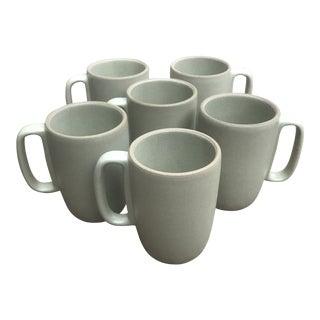 Heath Ceramics Large Mugs in Sage Set of 6 For Sale