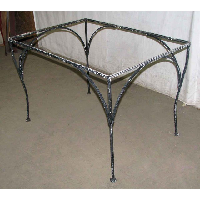 Simply designed patio table frame. This does not include glass.